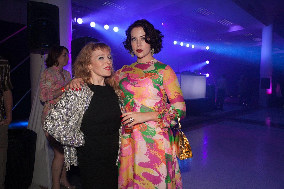 Holly and Allison party the night in McCaw Hall at the SIFF Opening Night Gala. (Image: Joshua Lewis / Seattle Refined)