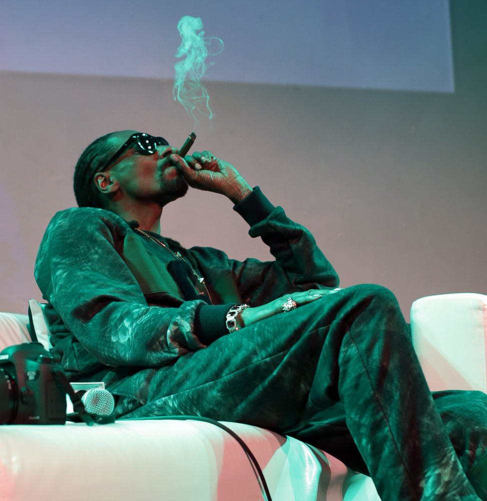 Snoop Dogg answers questions and gives fans a sneak peek of his latest album 'Bush' during a listening session hosted by Hot 97's Ebro and Nessa  Featuring: Snoop Lion, Snoop Dogg Where: New York, United States When: 13 May 2015 Credit: WENN.com