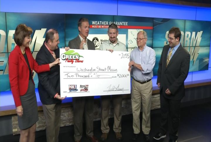 $2,000 is going to Washington Street Mission thanks to our weather guarantee from September. (WICS)
