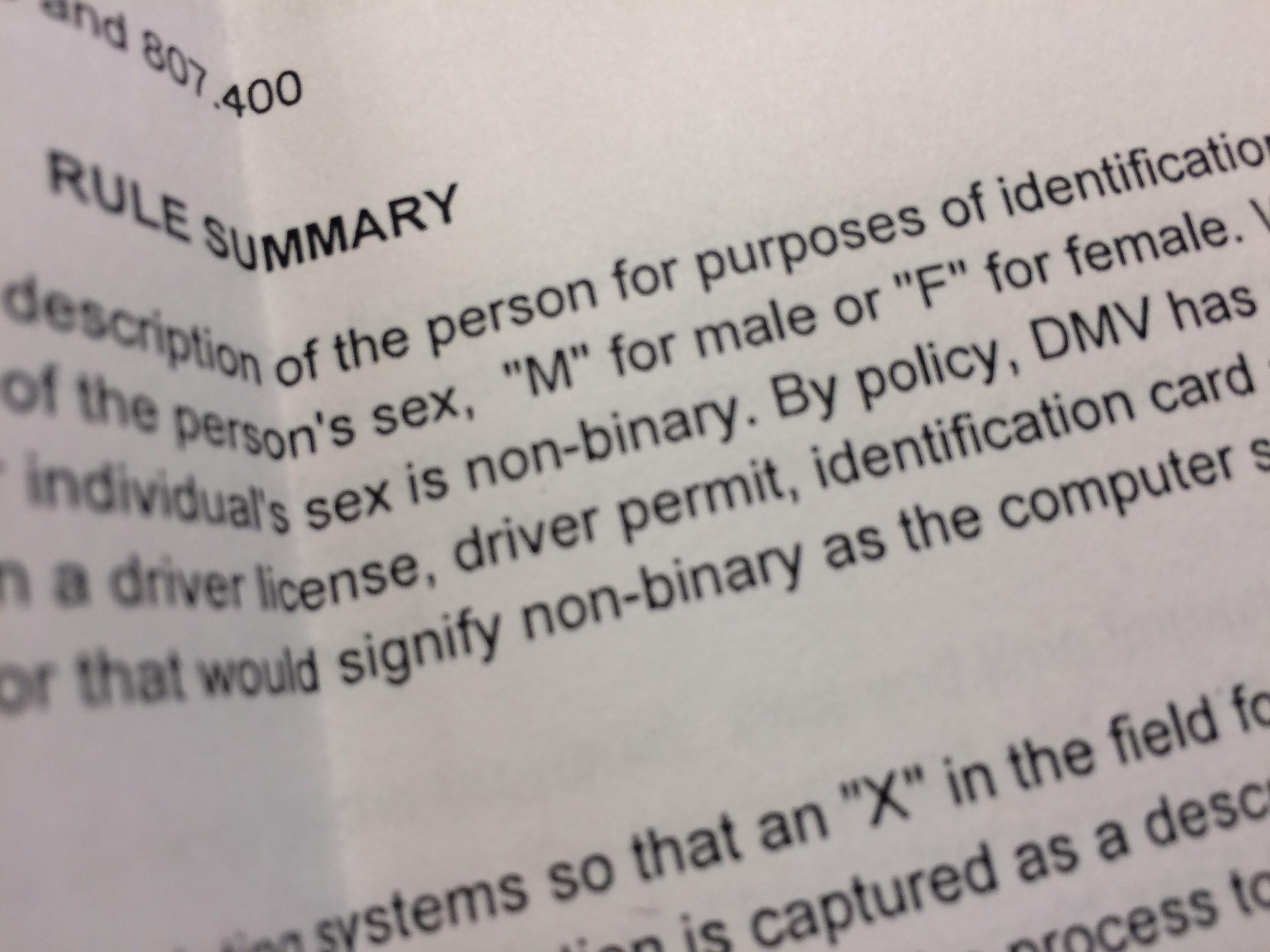 nonbinary transition options