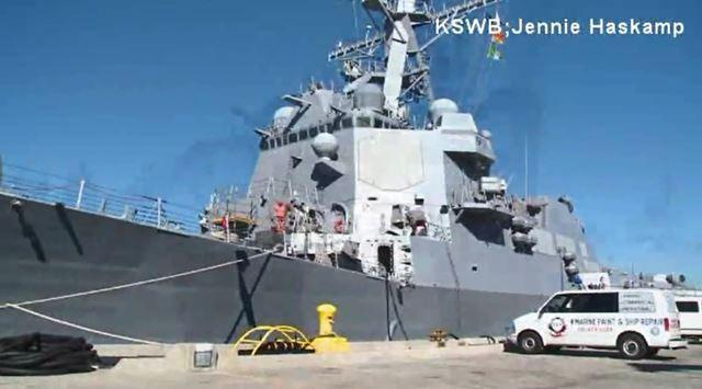 Today, a modern version of the Dewey is now on waters and it was at Naval Base San Diego for the special day.