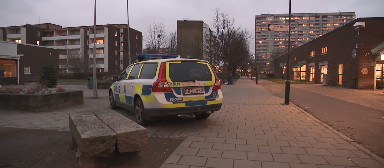 A high-crime area is patrolled by police in the suburbs of Malmo, Sweden. (Sinclair Broadcast Group)<p></p>