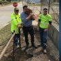 City workers help rescue curious dachshund