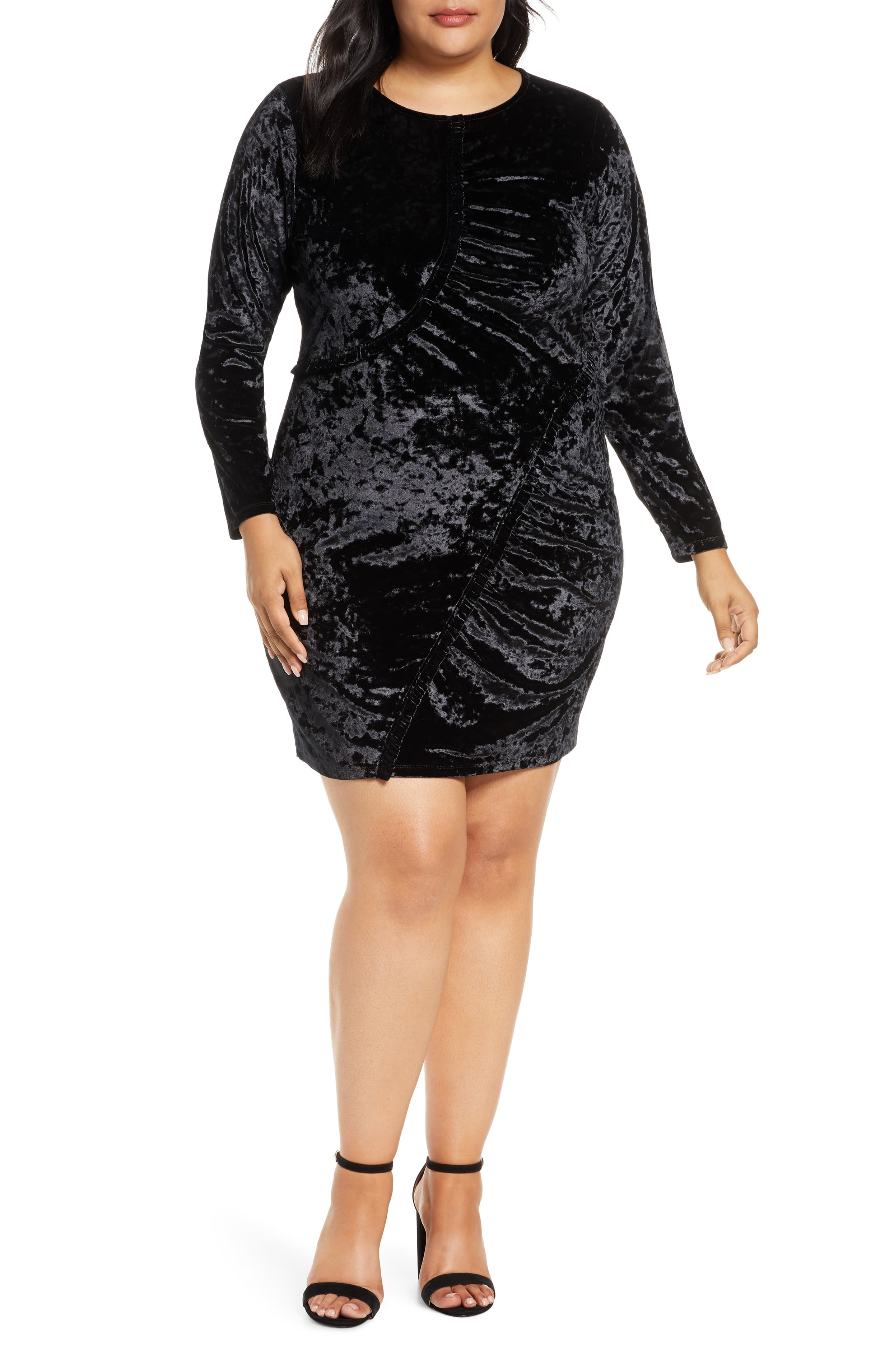 "<p>This ruched sheath dress in sumptuous velvet puts a sophisticated spin on a favorite retro trend. $115</p><p><a  href=""https://shop.nordstrom.com/s/michael-michael-kors-long-sleeve-ruched-velvet-dress-plus-size/5406982/full?origin=category-personalizedsort&breadcrumb=Home%2FWomen%2FShop%20by%20Occasion%2FNight%20Out&color=001-black"" target=""_blank"" title=""https://shop.nordstrom.com/s/michael-michael-kors-long-sleeve-ruched-velvet-dress-plus-size/5406982/full?origin=category-personalizedsort&breadcrumb=Home%2FWomen%2FShop%20by%20Occasion%2FNight%20Out&color=001-black"">Shop it{&nbsp;}</a></p><p>(Image: Nordstrom){&nbsp;}</p>"