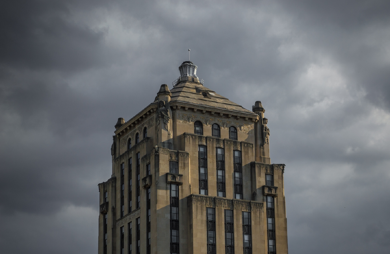 The city meets the sky at 800 Broadway (former Times-Star) downtown / Image: Phil Armstrong, Cincinnati Refined