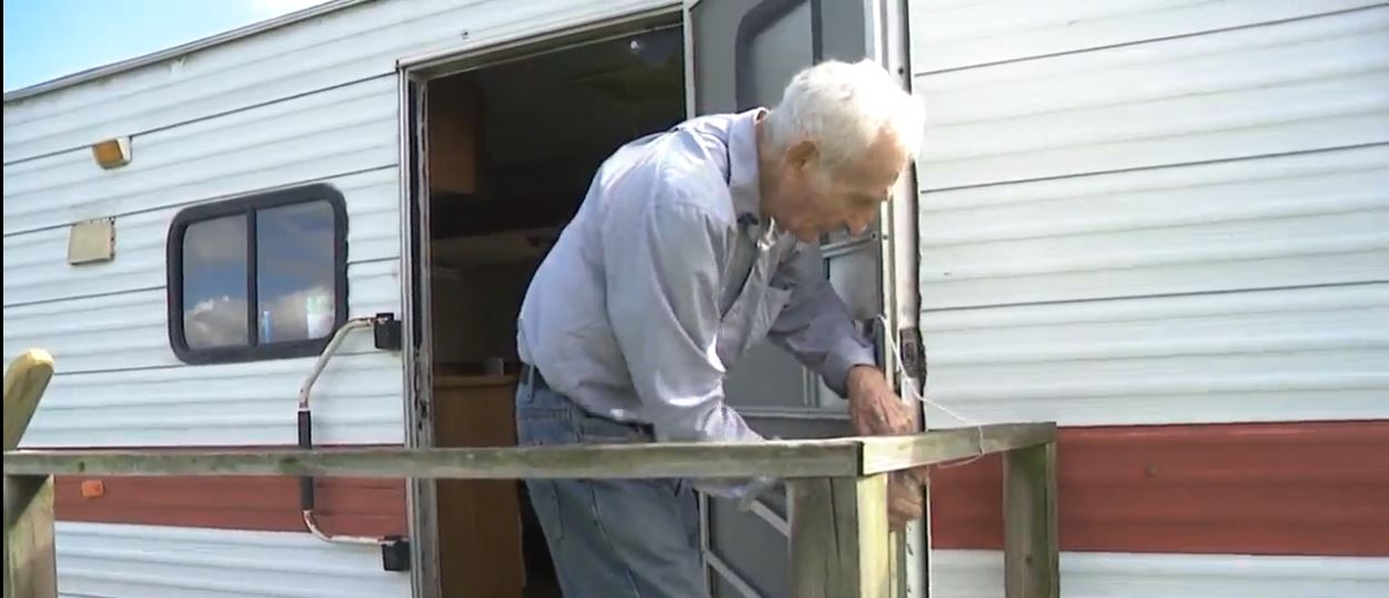 Eighty-nine year-old SETX man loses home with reverse mortgage and is now warning other senior citizens.  Joe Cardinale lost his home and now lives in his trailer.