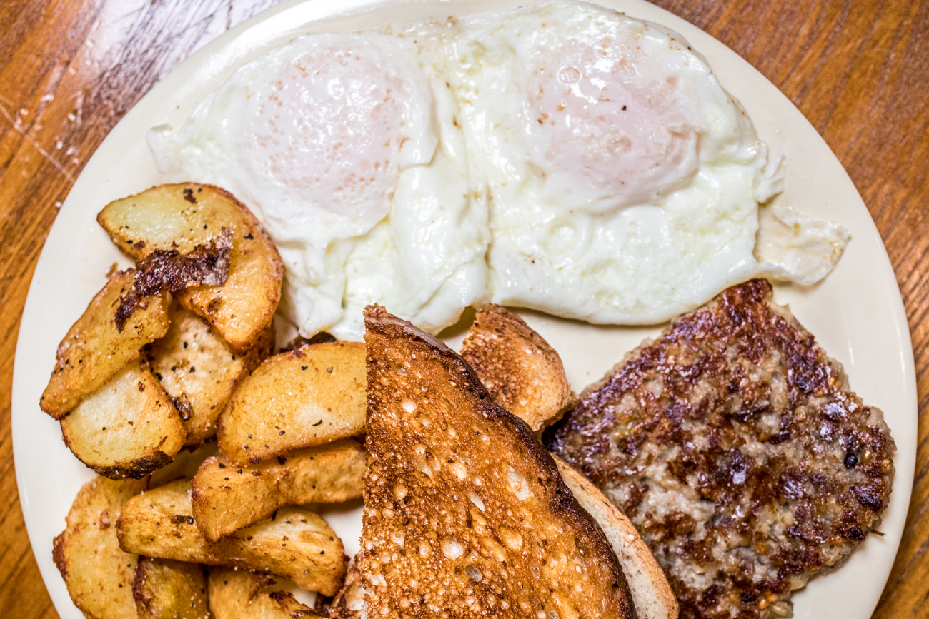 Basic Breakfast: two eggs your way, choice of one breakfast meat, home fries, and toast / Image: Catherine Viox{ }// Published: 2.1.21