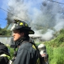 Crews knock down house fire on Red Dike Rd. in Coos Bay