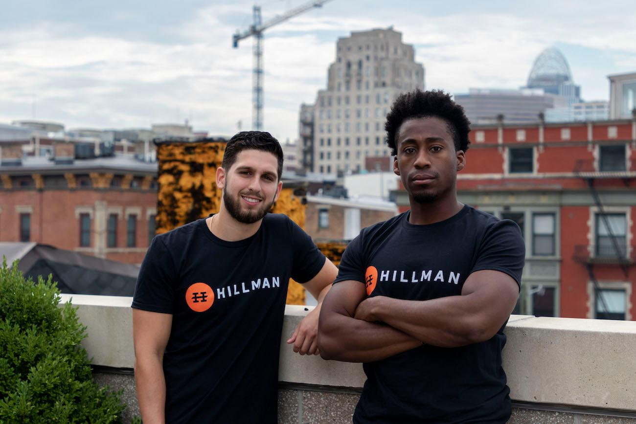 David Marsili and Rodney Walton of The Home Team, a platform that connects local service providers with customers who have labor requests via an app.  The startup went through the Hillman accelerator. / Image{ }courtesy of Hillman // Published: 8.29.18