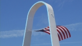 City shows off refurbished Rocky Point arch