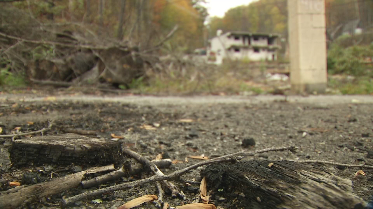 The rebuilding process is coming along slowly, but homes are starting to pop up in an area that was devastated by the Gatlinburg wildfire almost a year ago.  (Photo credit: WLOS staff)