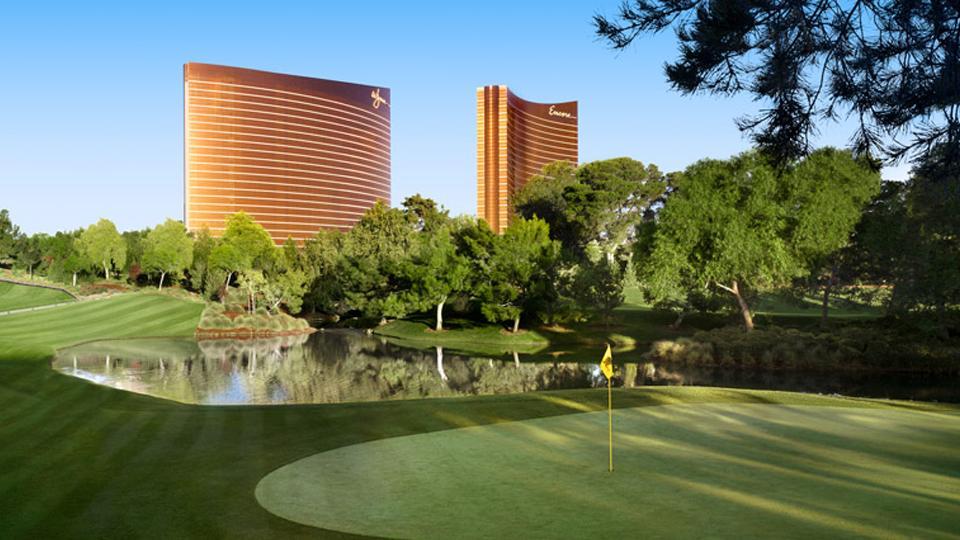 Every restaurant at Wynn Las Vegas has a vegetarian and vegan menu. It also has an 18-hole, par-70 golf course, which is the only golf course attached to a resort on the Strip. (Photo courtesy of Wynn Las Vegas)