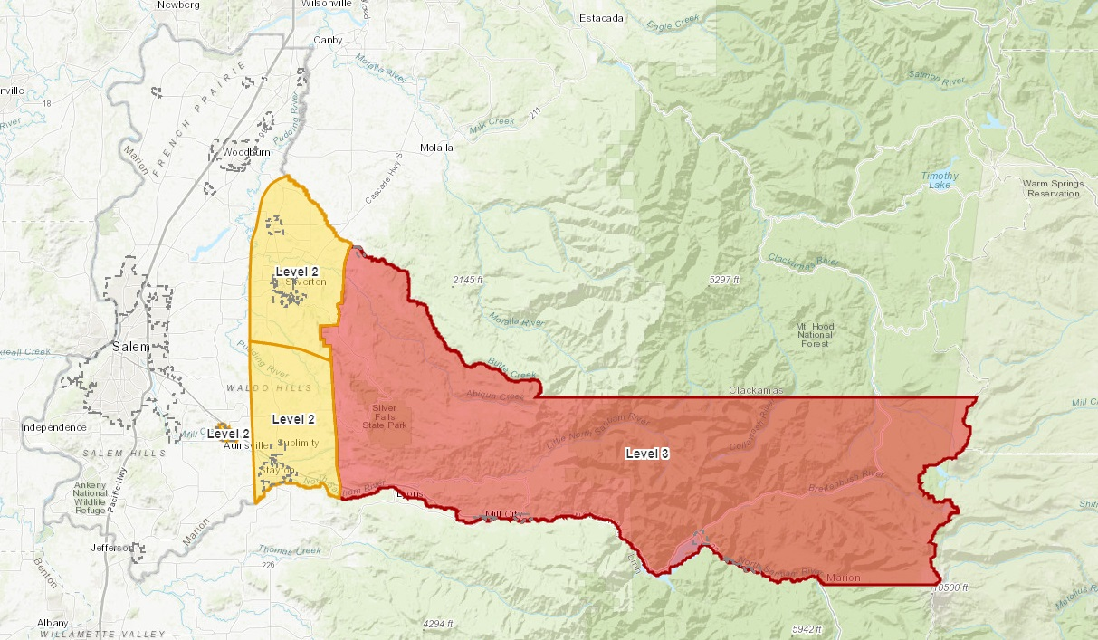 Marion County Evacuation Map on Thursday Sept 10, 2020 - MCSO image.jpg