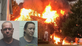 Police: Man who jumped off bridge with daughter now charged with burning down house
