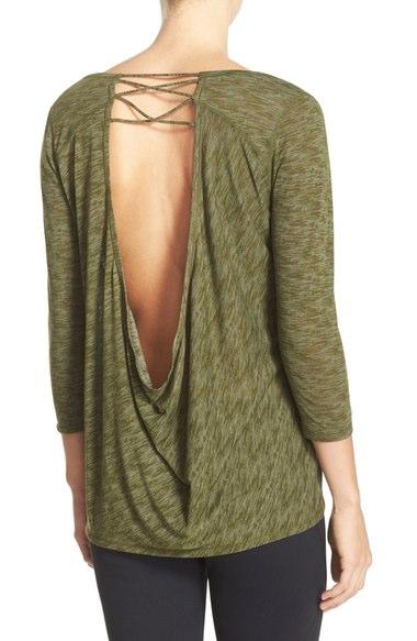Zella Cat Cowl Open Back Tee $48. Available at select Nordstrom stores and nordstrom.com. (Photo: Nordstrom)