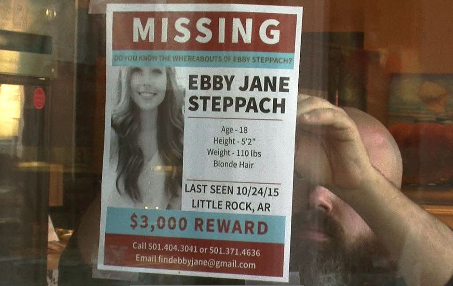 A $15,000 reward has been offered for any information that leads to finding Ebby Steppach. (KATV photo)