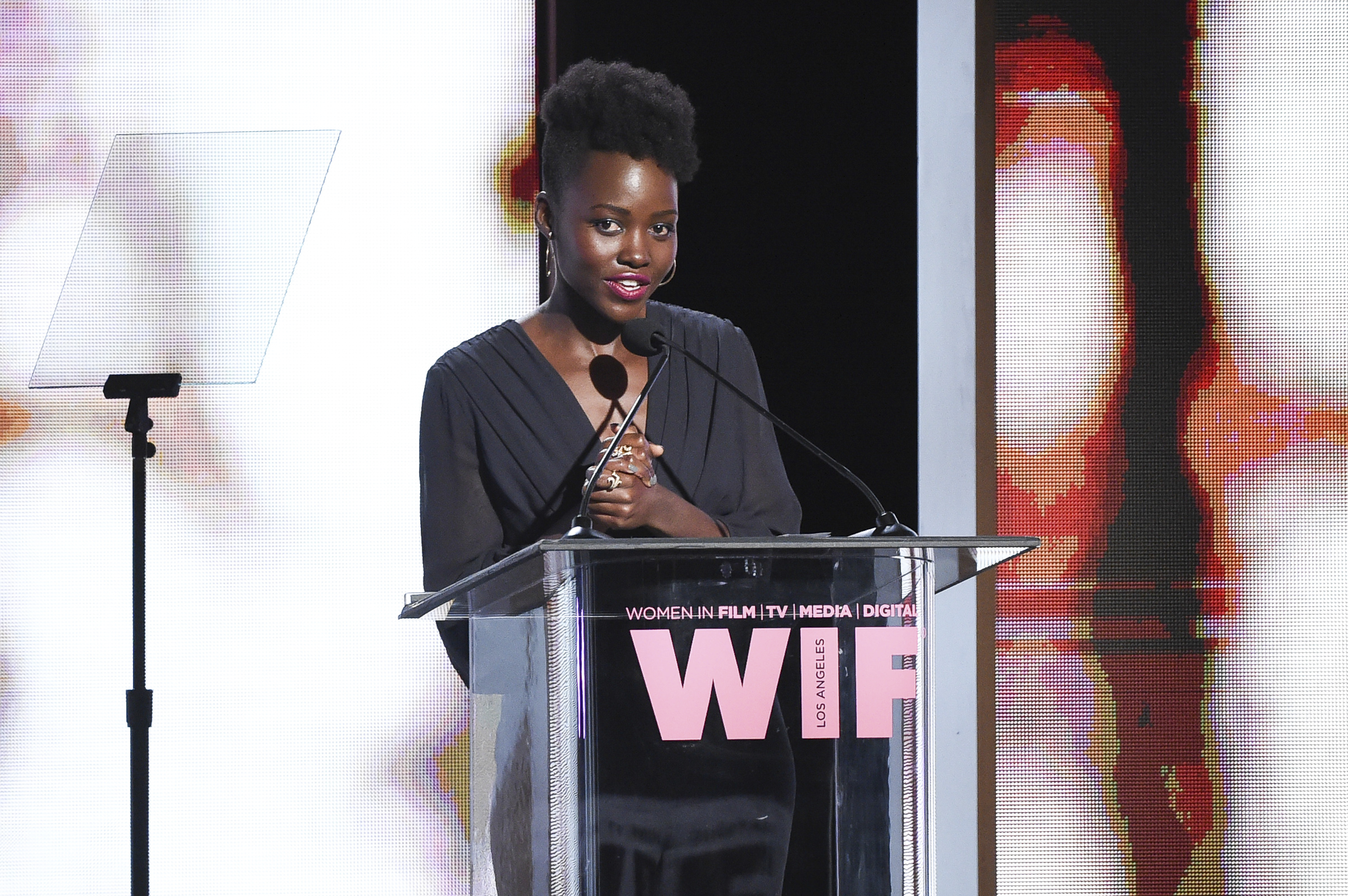 Lupita Nyong'o attends the Women In Film 2017 Crystal and Lucy Awards at the Beverly Hilton Hotel on Tuesday, June 13, 2017, in Beverly Hills, Calif. (Photo by Richard Shotwell/Invision/AP)