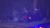 Car involved in pursuit crashes in Foxborough
