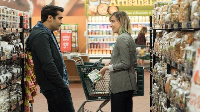 "Kumail Nanjiani as ""Kumail"" and Zoe Kazan as ""Emily"" in THE BIG SICK. Photo by Nicole Rivelli."