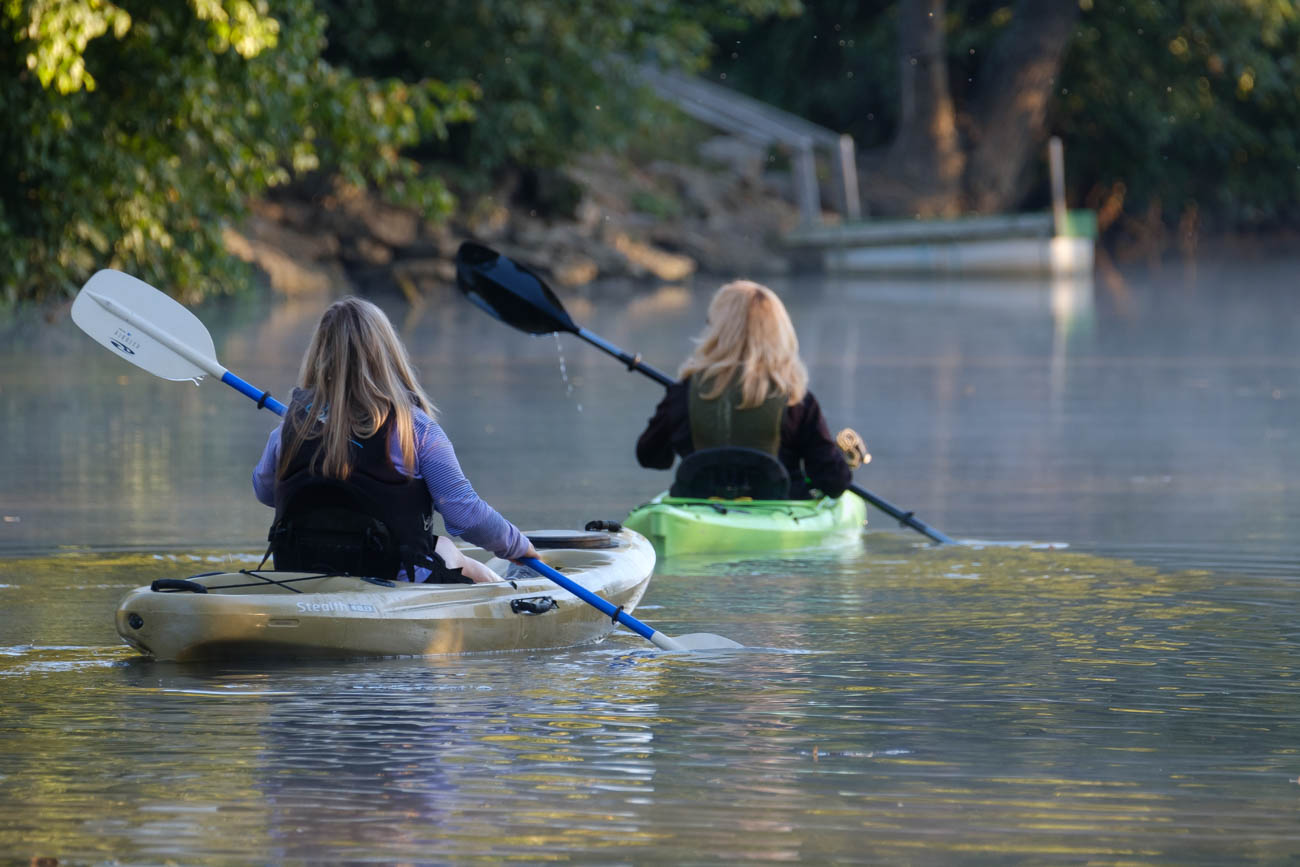 Elkhorn Creek is 17 miles longer and perfect for canoeing, kayaking, and fishing. / Image courtesy of Georgetown/Scott County Tourism // Published: 11.1.18