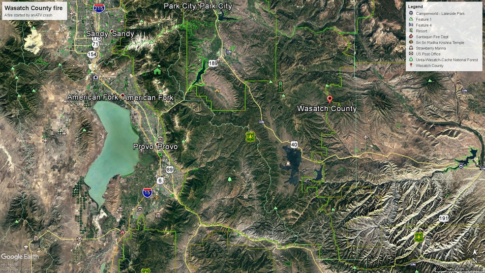 Wasatch County Fire Burns Acres Threatens To Jump Mountain To - Map of utah county