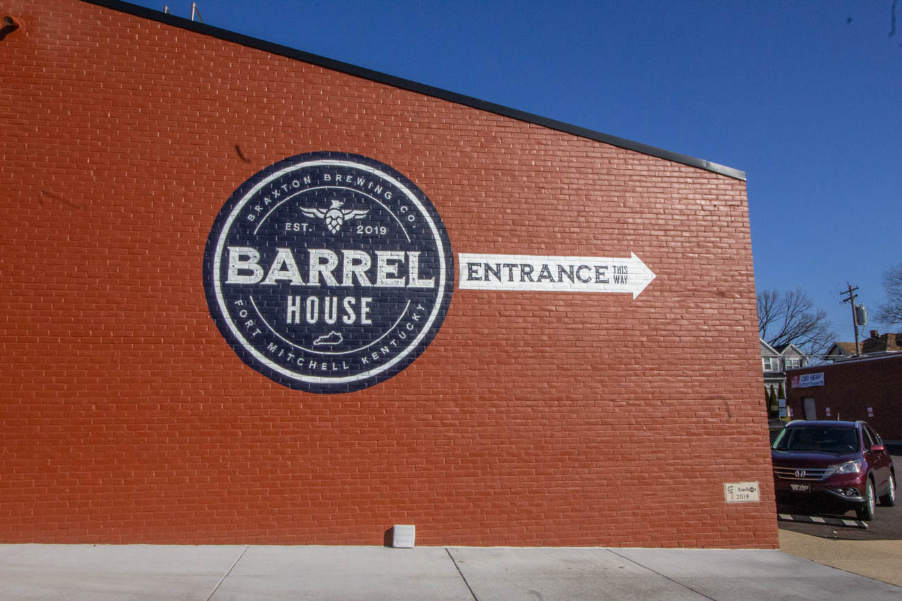 Braxton's Barrel House is located around the back of the building!{ }/ Image: Katie Robinson, Cincinnati Refined // Published: 1.7.20