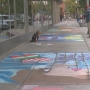 Chalk bomb week is here to decorate the streets