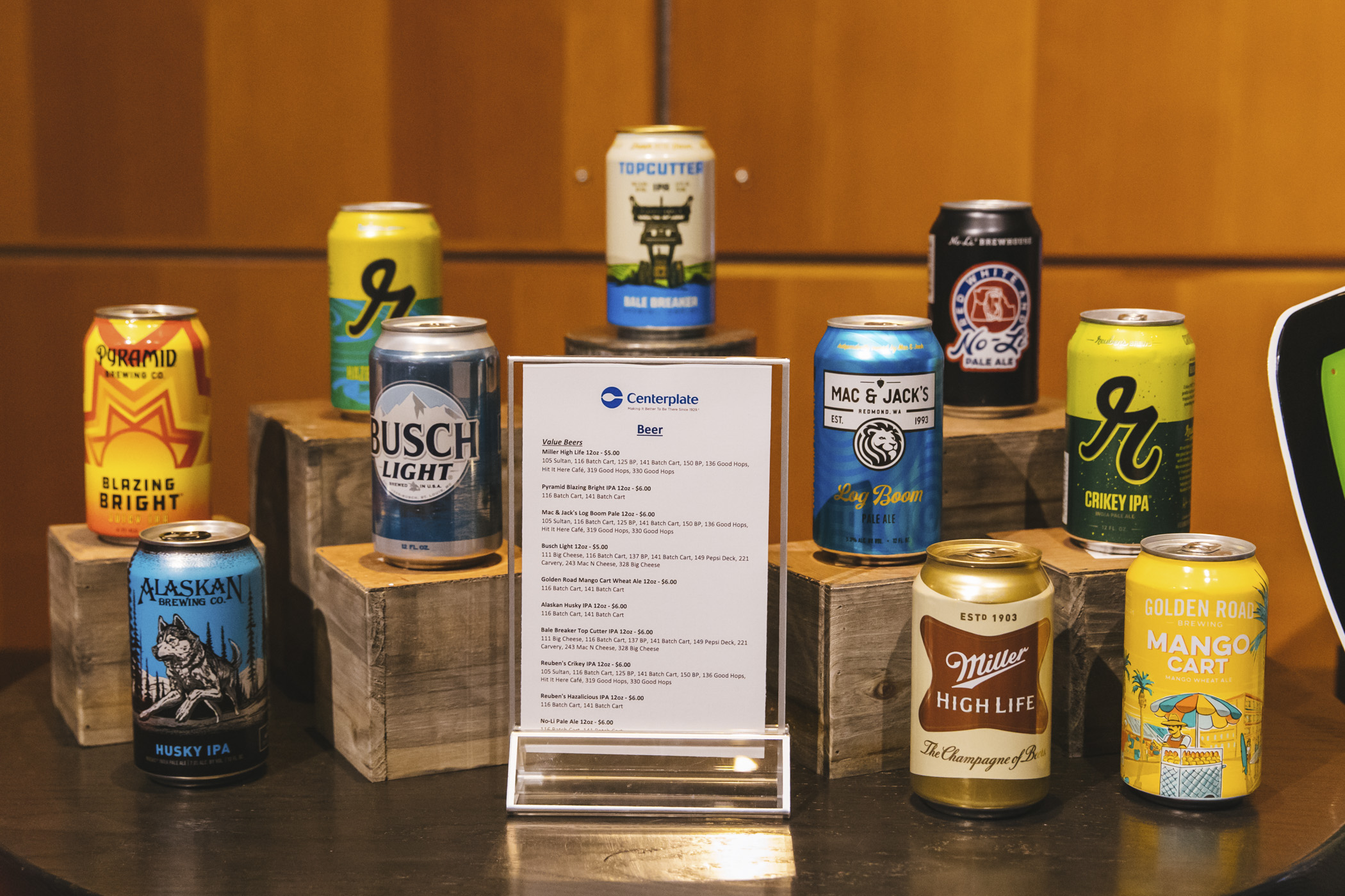 Beer selections! We snuck in a little preview of the beer, wine and spirits offerings for the 2020 Seattle Mariners season at T-Mobile Park! Home Opener is March 26 at 1:10 p.m. agains the Rangers. Go M's! (Image: Sunita Martini / Seattle Refined)