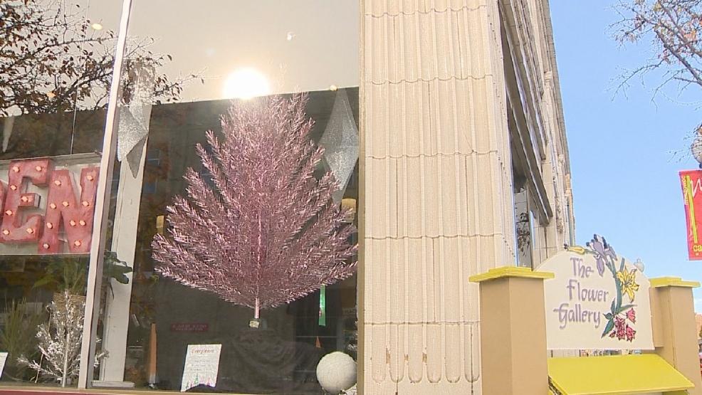 Aluminum christmas trees on display in manitowoc wluk