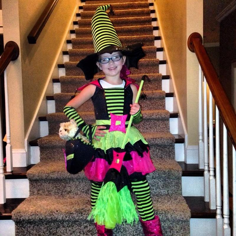 Baylee Bradley, Pelham Alabama Her inspiration was character and book report day at school. Her book is: Room on the Broom.