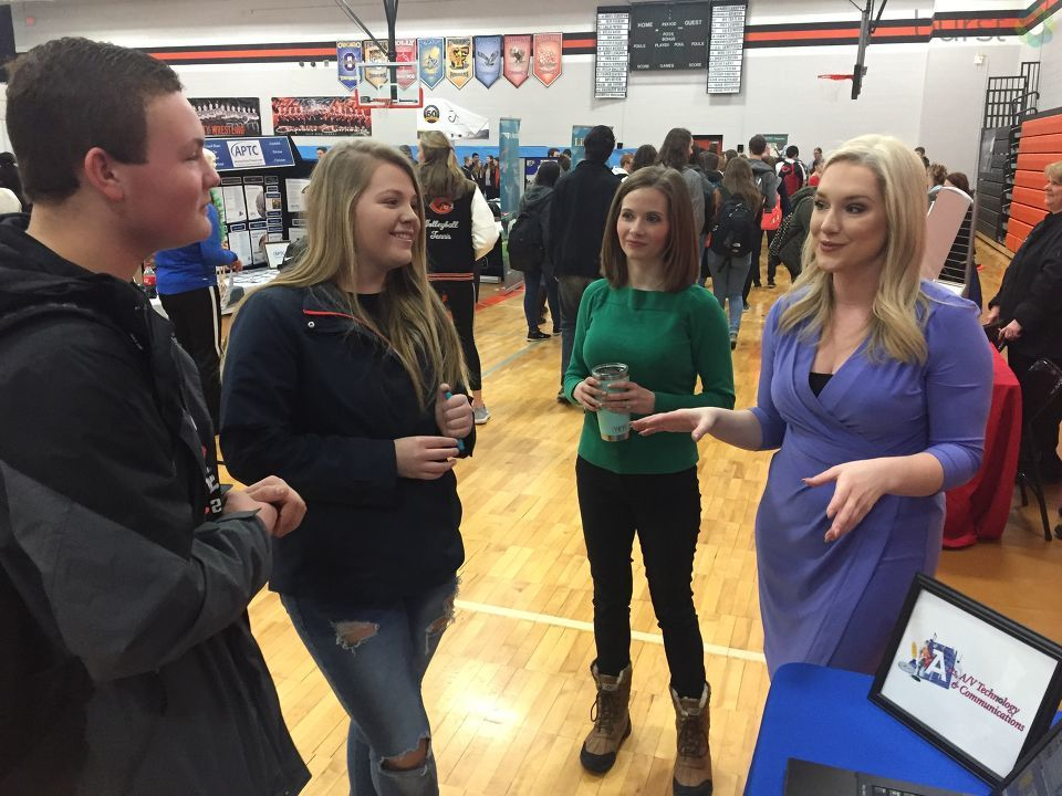 Our own morning anchor Rachelle Spence, morning reporter Veronica Meadows, and chief photographer Mike Horne, were at the Clio High School career fair to talk to students who are interested in careers in broadcasting.{ }(Photo: WEYI/WSMH)