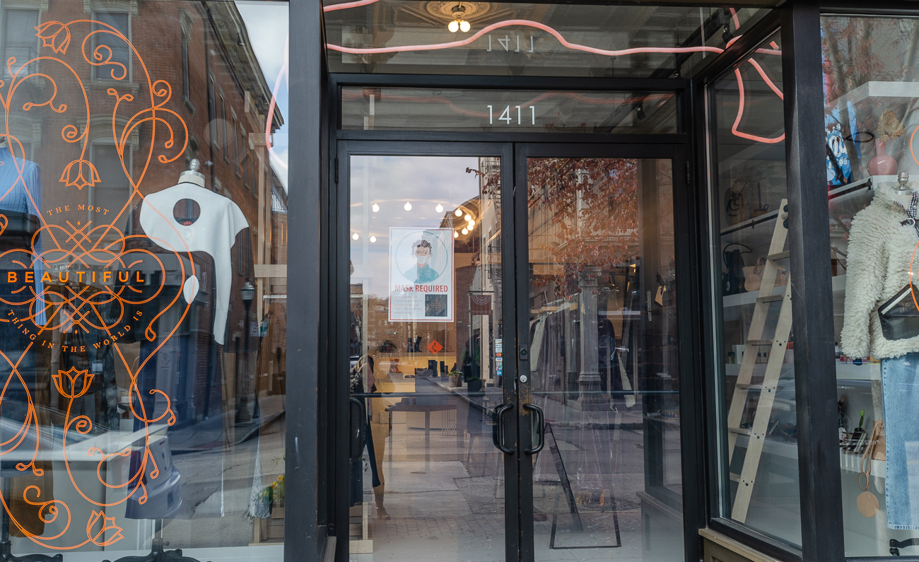 Their merchandise is inspired by the world travels of owner Carrington Warner Broerman. TMBTITW's new location opened in November 2020 inside one of Elm & Iron's former Vine Street spaces. / Image: Kellie Coleman // Published: 12.15.20{&nbsp;}<p></p>