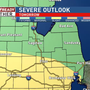 Strong to severe thunderstorms possible late Saturday