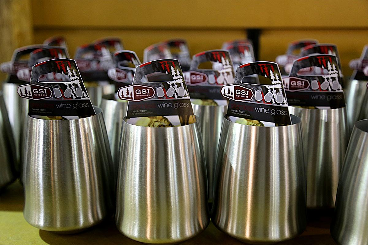 You don't have to use a plastic K cup for happy hour at the camp site. Whether you choose plastic or stainless steel, these glasses will be a great addition for mimosas, sangria or an afternoon glass of wine. (Image: Kristi Waite/Seattle Refined)