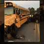 Calera High School bus involved in crash Friday morning
