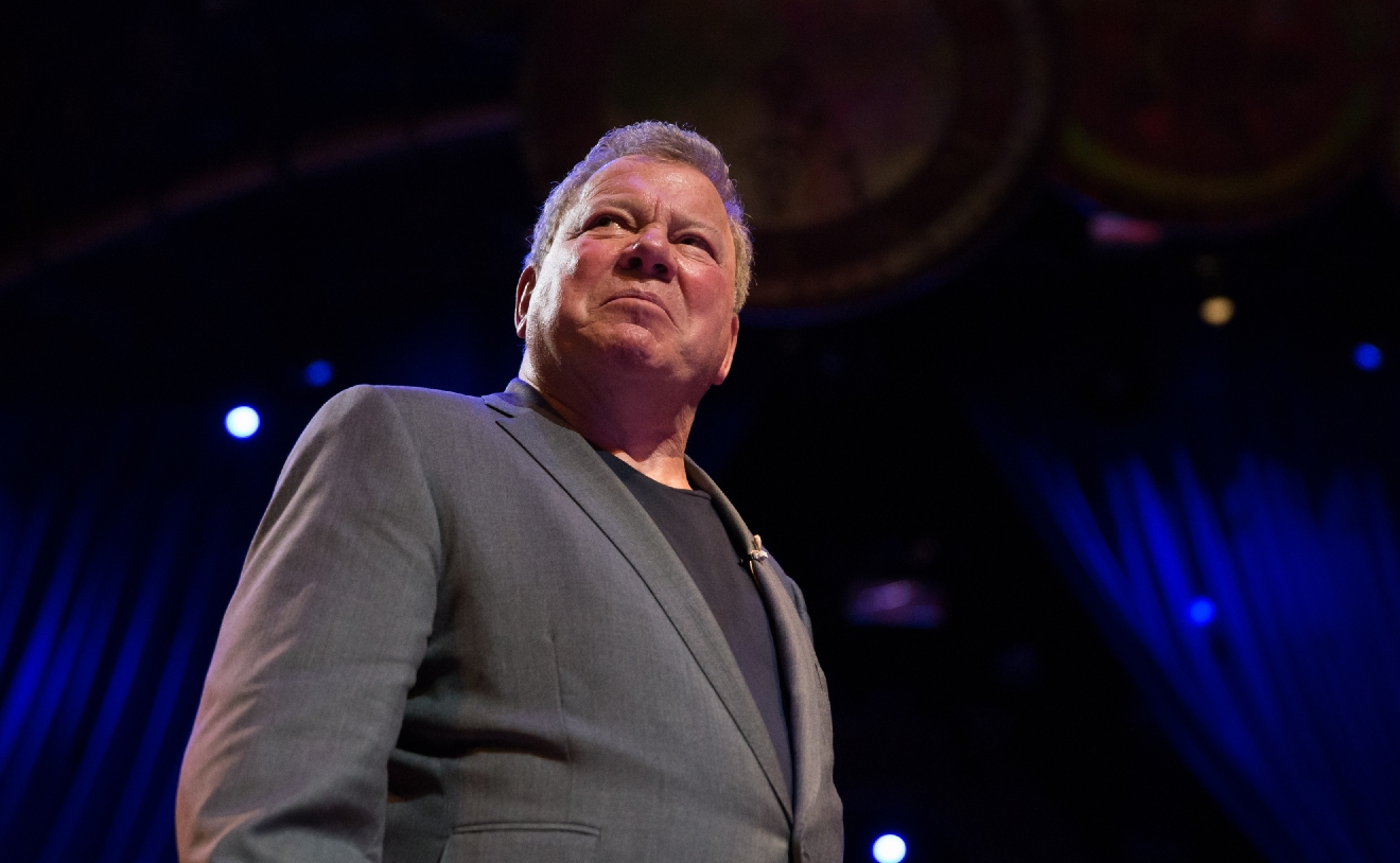 Emmy Award-winning actor William Shatner performs in fifth annual One Night for One Drop, March 3, 2017. (Photo courtesy of Erik Kabik/ErikKabik.com)