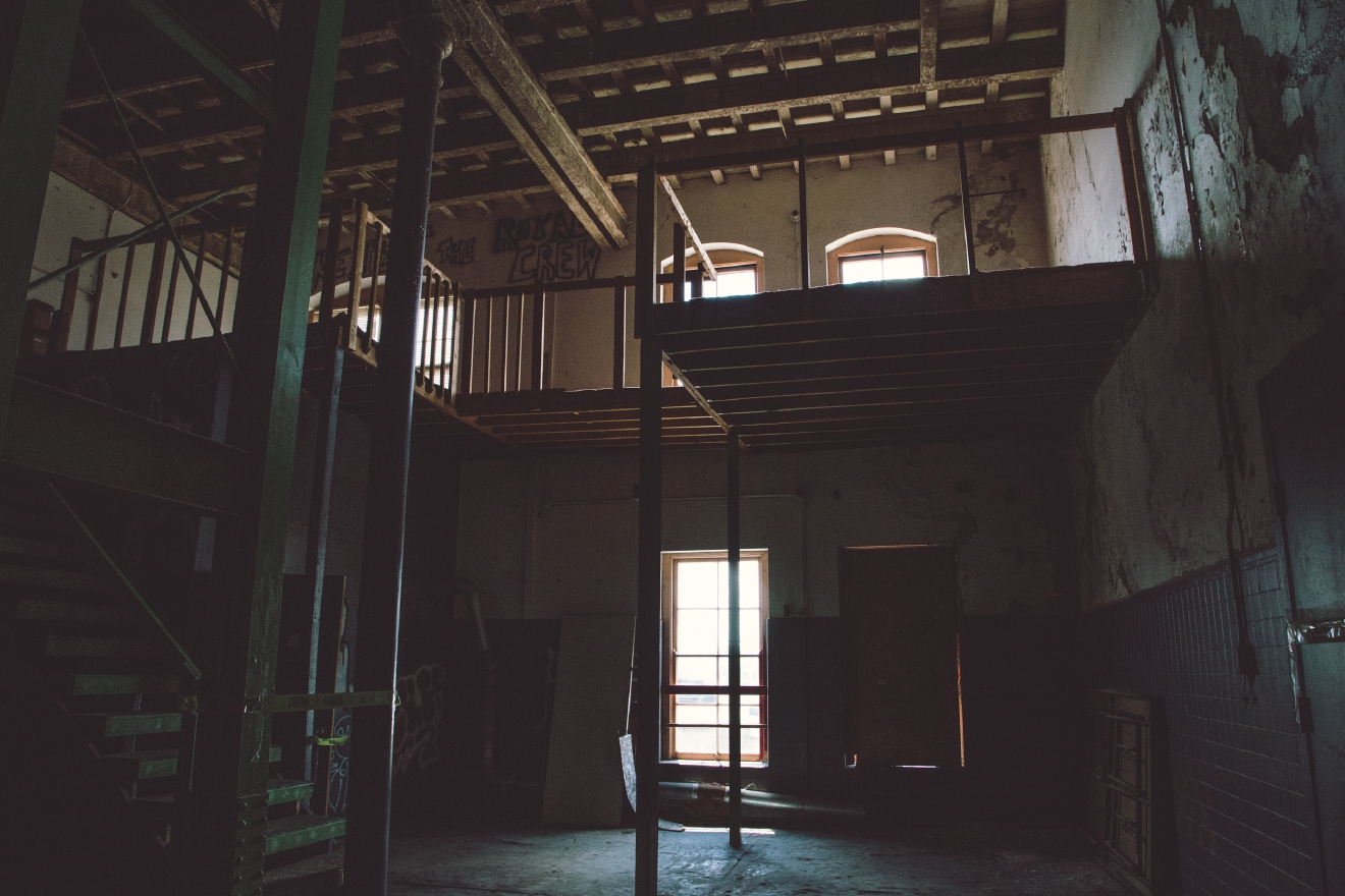 Some of the spaces were bought and then abandoned once again. These in particular were on their way to becoming loft apartments at one point. / Image: Catherine Viox