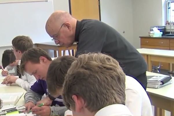 Our April Teacher of the Year nominee is Father Fred from Catholic High School for boys. (KATV Photo)