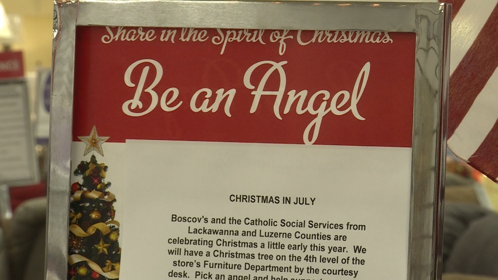 boscovs sponsoring christmas in july clothing and food drive wolf
