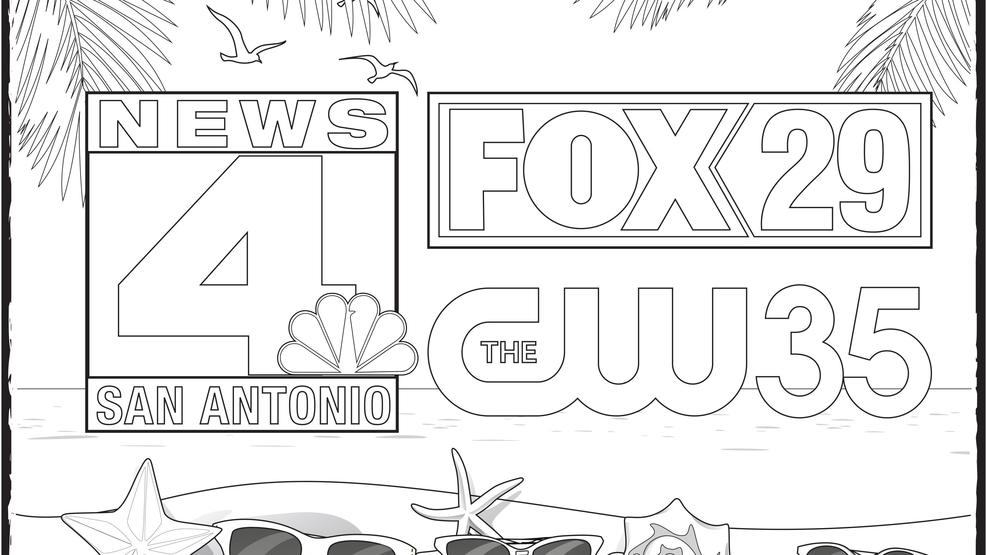 Spring break fun download the news 4 sa fox san antonio for Coloring pages spring break