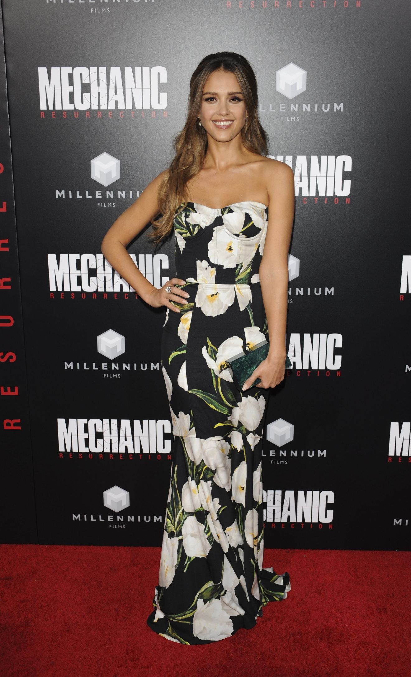 "Jessica Alba attends the film premiere of ""Mechanic Ressurection."" (Apega/WENN.com)"