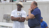 """Prime Time"" Deion Sanders attends ACU football's mega camp"