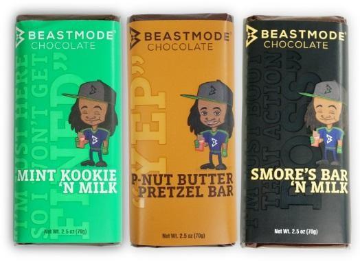 04b02d894d7ba Former Seattle Seahawk Marshawn Lynch creates  u0027Beast Mode Chocolate. u0027  (Courtesy Beast Mode ...