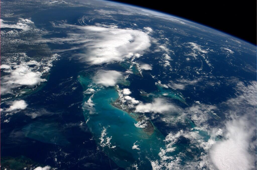 Been waiting a while to see the Caribbean. It didn?t disappoint.  (Photo & Caption: Reid Wiseman, NASA)