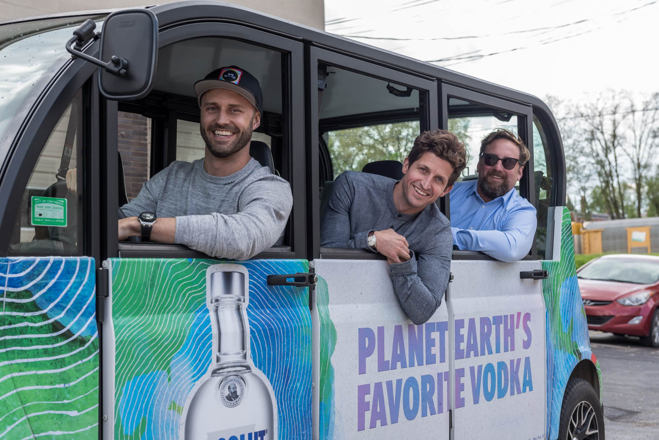 Dustin Grutza, Michael Palmer, and Joe Creighton founded the local startup, which is sponsored by Absolut, Jameson, and 21c Museum Hotel. The app was launched in the winter of 2018, with plans to update this summer with the growing demand for rides. Oggo aims to be a transportation solution in the city, helping people move around town easily while discovering new local places to explore. / Image: Mike Menke // Published: 5.7.19