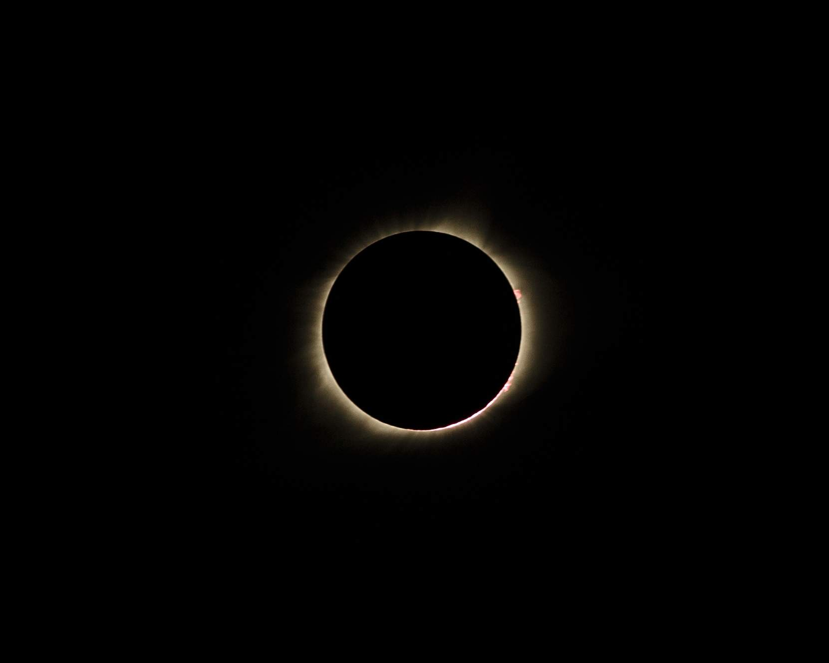 A view of the total eclipse from Independence. [John Howe/Special to The Examiner]