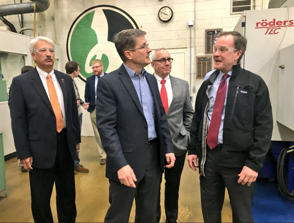 Attorney General Bill Schuette visits southwestern Michigan to discuss priorities. // WSBT 22 photo