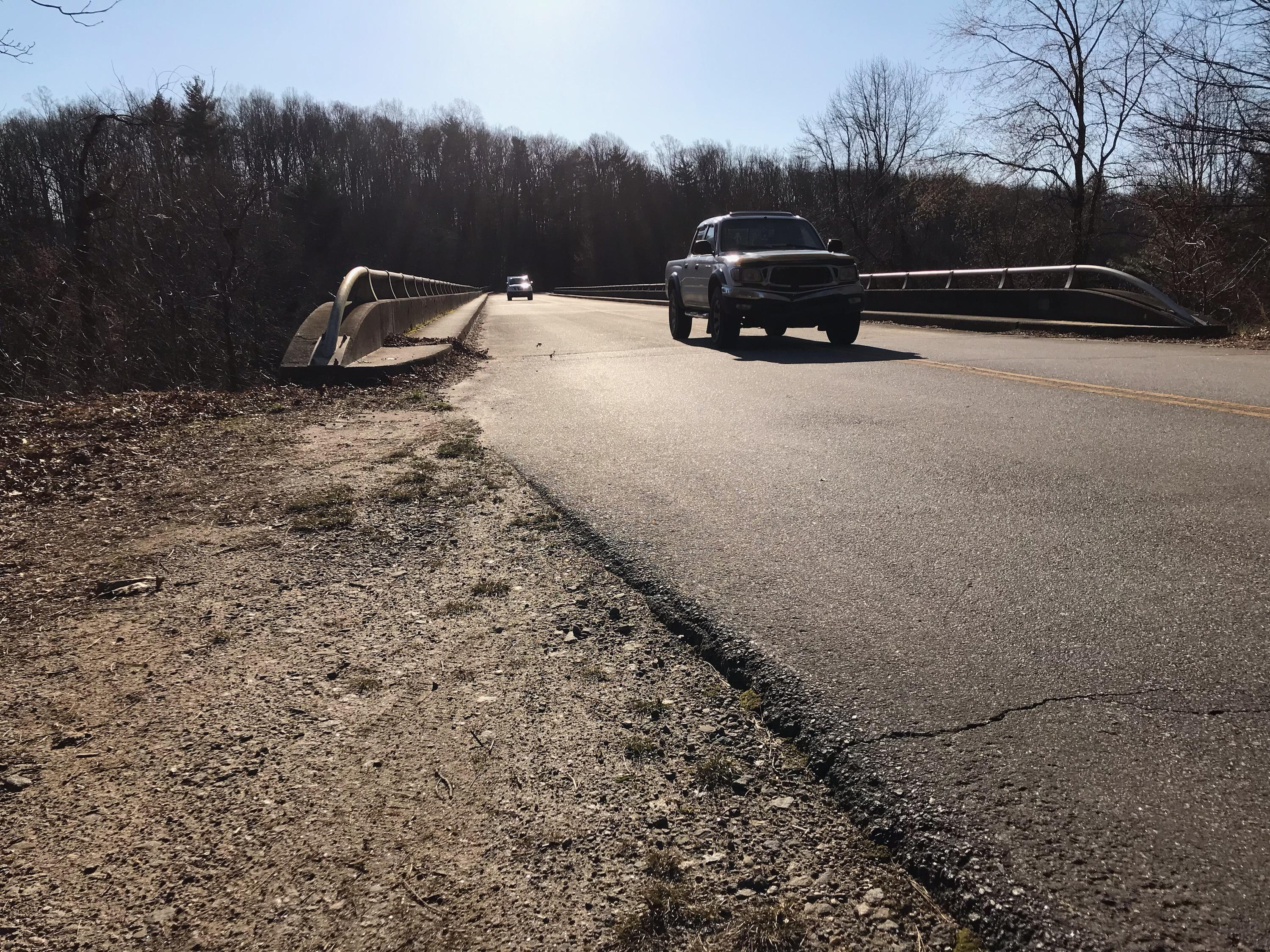 The Blue Ridge Parkway bridge that goes over Interstate 26 will be replaced as part of the I-26 widening project. (Photo credit: WLOS staff)