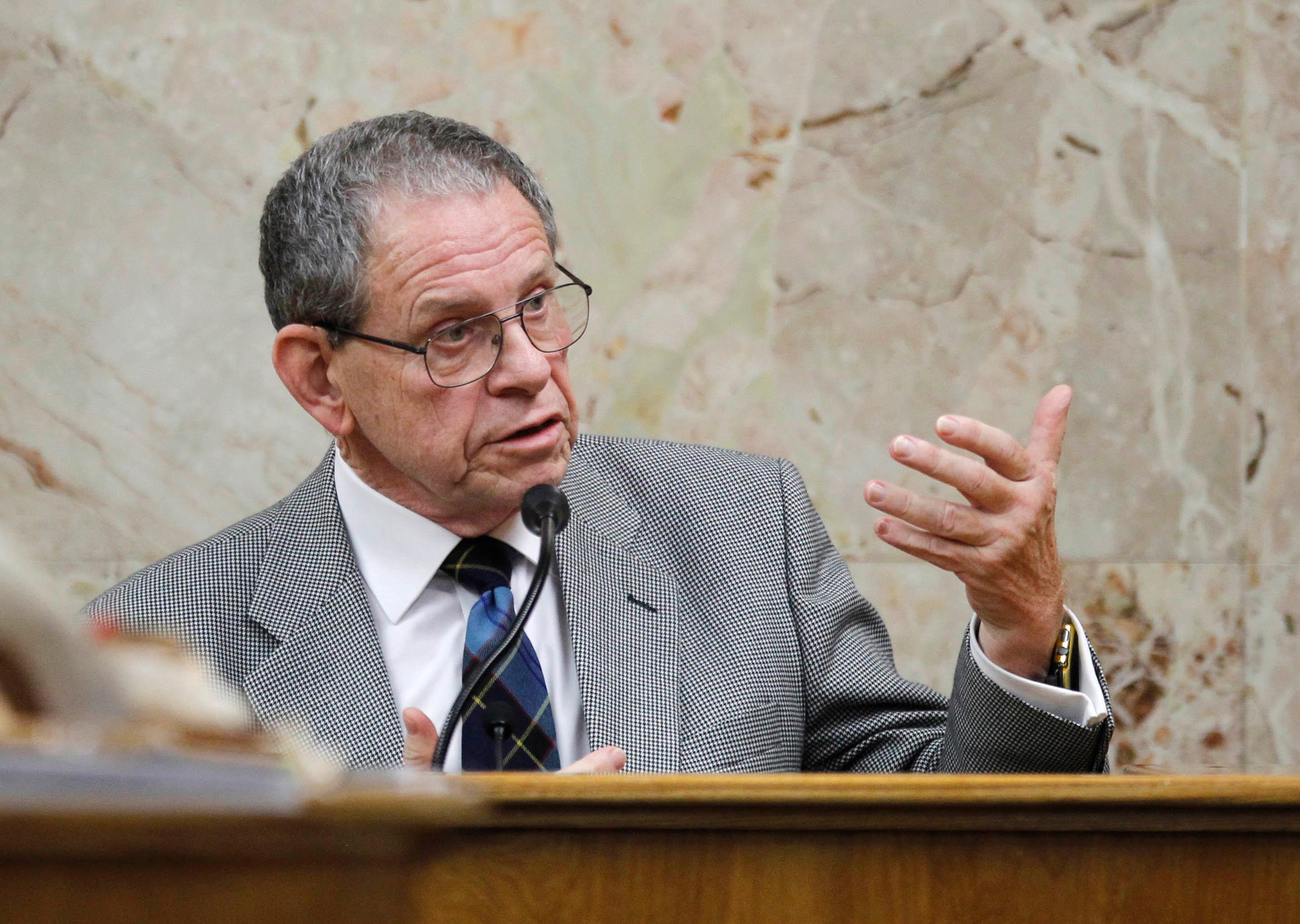 Thomas Doyle testifies in John Bernard Feit's trial for the 1960 murder of Irene Garza Tuesday, December 5, 2017, at the Hidalgo County Courthouse in Edinburg. Doyle testified as an expert witness on the Catholic Church's cover-ups of crimes similar to the Irene Garza murder.  (Nathan Lambrecht/The Monitor/Pool)