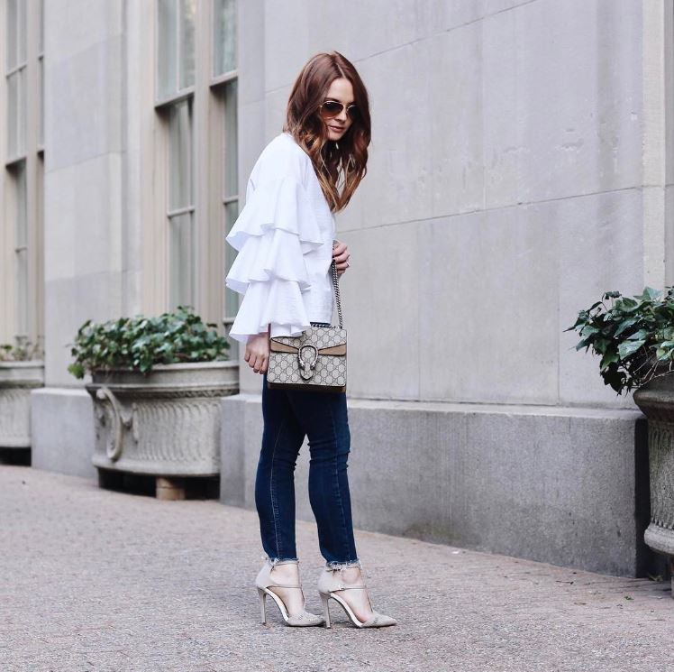 IMAGE: IG user @allycog / POST: On the statement sleeve bandwagon in a very real way. More of this look on the blog.